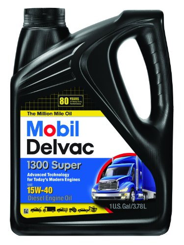 15w40 Motor Oil - Mobil Super 96819 15W-40 Delvac 1300 Motor Oil - 1 Gallon (Pack of 4)