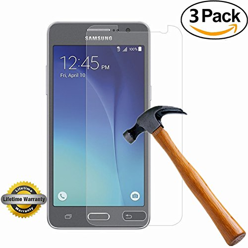 Galaxy Grand Prime Screen Protector, SOOYO(TM) Premium Tempered Glass Screen Protector (2.5D Round Edge/99% Clarity/Shatter-Proof/Bubble Free) for Samsung Galaxy Grand Prime[Lifetime Warranty]-[3Pack]