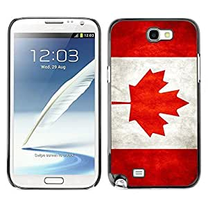 Shell-Star ( National Flag Series-Canada ) Snap On Hard Protective Case For Samsung Galaxy Note 2 II / N7100 hjbrhga1544