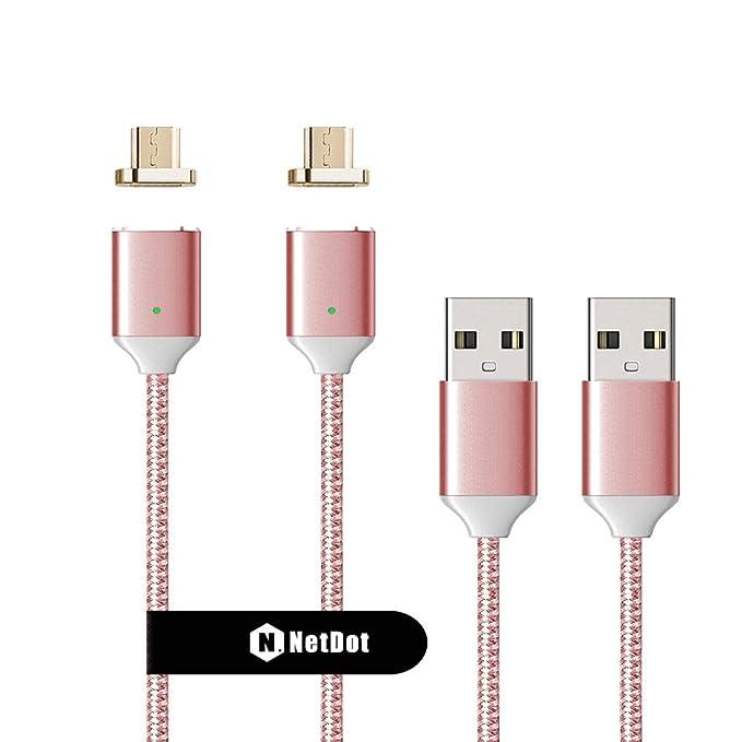 150 opinioni per NetDot Gen2 Intrecciato Magnetica Cavo di Ricarica USB con connettore di 1