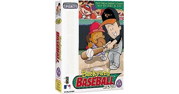 Amazon Com Backyard Baseball 2001 Pc Mac Video Games