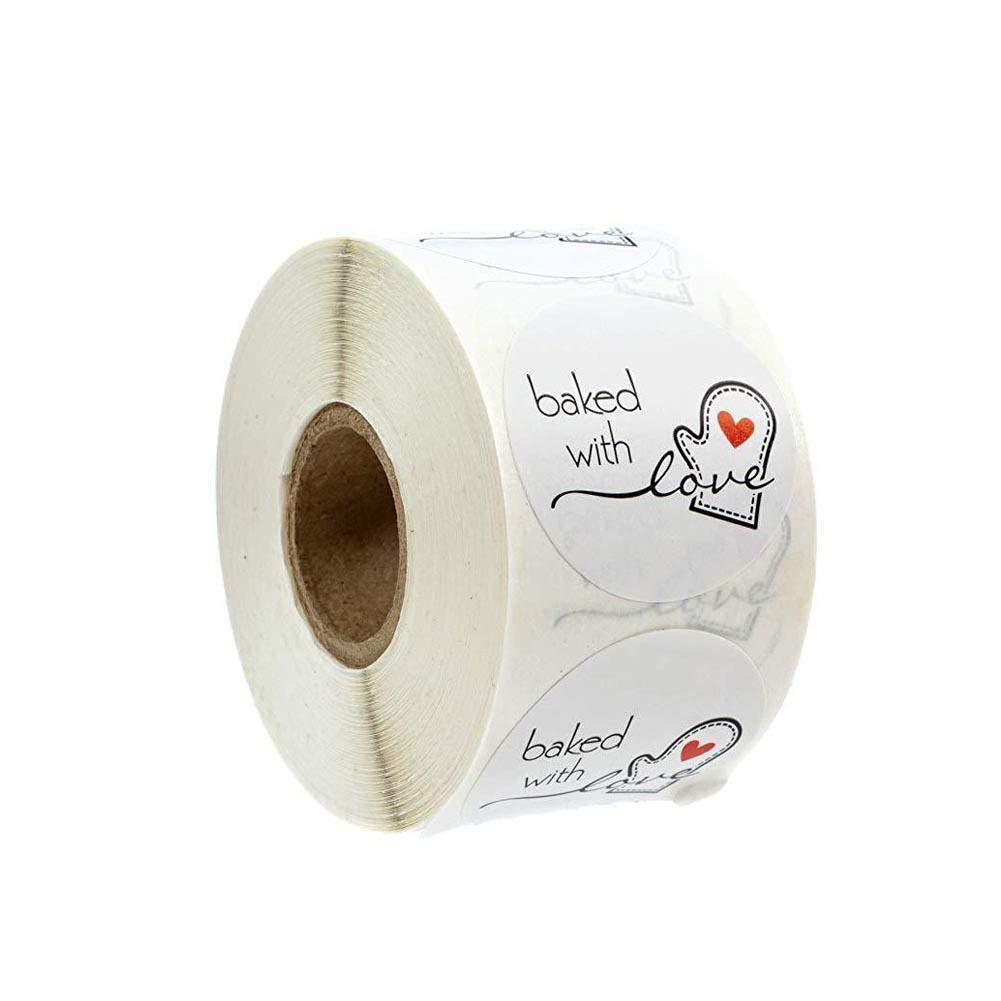 Braun Festliche Backaufkleber Etikett Festive Decorative Baking Sticker Label Michelle ShawLO Cowhide Roll Aufkleber Handgemachte