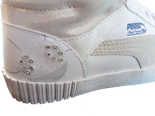 Puma Puma Street Jump - Botas para mujer Blanco blanco y gris