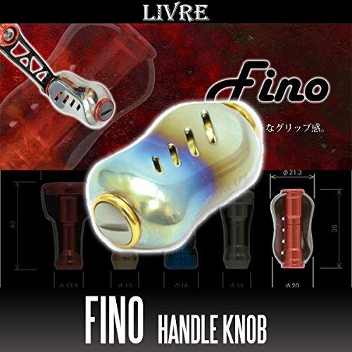 リブレ/LIVRE Fino(フィーノ) チタニウムハンドルノブ ファイヤー/ゴールド (シマノ・ダイワ共通対応)の商品画像