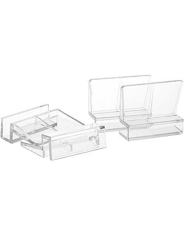4X Soportes para Tapa en Acuario o Gambario, en Vidrio Cristal de 12mm