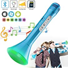 Microphone Karaoke, Portable Wireless Karaoke with Bluetooth Speaker Compatible for iPhone ipad Android Smartphone Or PC, Home KTV Outdoor Party Muisc Suitable for Anytime and Anywhere