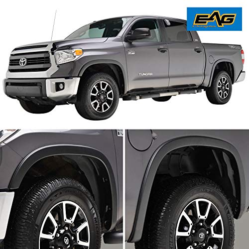 EAG Fender Flares Satin Black Styline Series Fit for 14-17 Toyota Tundra