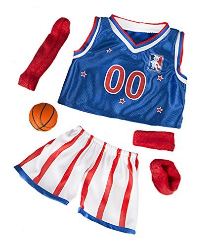 All Star Basketball Uniform Fits Most 14 - 18 Build-a-bear, Vermont Teddy Bears, and Make Your Own Stuffed Animals by Stuffems Toy Shop