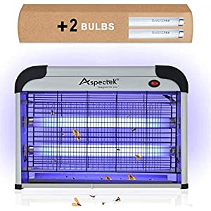 ASPECTEK Upgraded 20W Electronic Bug Zapper Insect Mosquito, Fly, Moth, Wasp Beetle & Other pests Killer for Indoor…