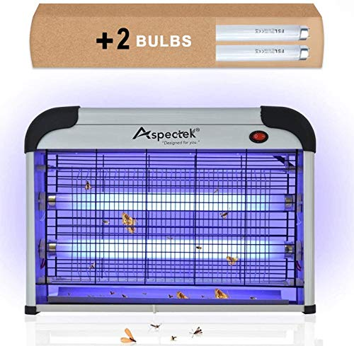 Aspectek Powerful 20W Electronic Indoor Insect Killer, Bug Zapper, Fly Zapper, Mosquito Killer-Indoor Use Including Free…