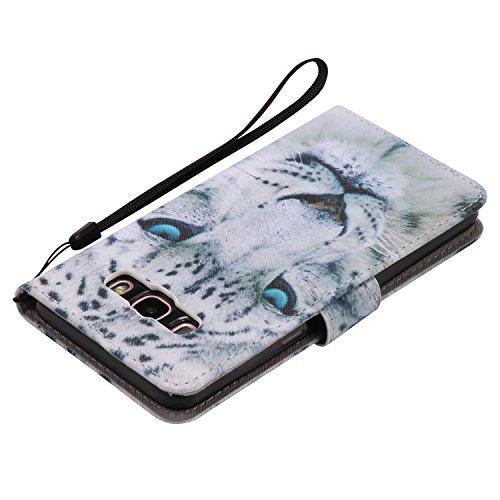 PU para Galaxy J5(2016) J510funda Flip cover de piel para Galaxy J5(2016) J510Flip Cover Funda Libro Con Tarjetero Función Atril magnético + Polvo Conector morado 2 2