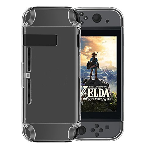 Nintendo Switch Case,Findway Nintendo Switch Premium Crystal Clear Shock Absorption Technology Bumper Soft Protective TPU Cover Case for Nintendo Switch Console & Accessories