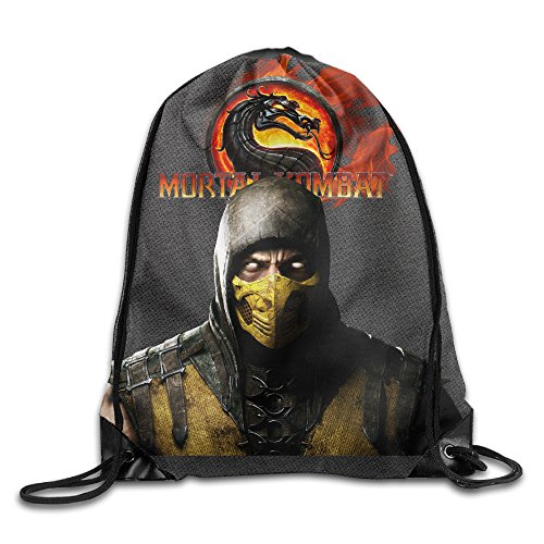 Mortal Kombat Costumes For Girls (Mortal Kombat Sack Bag Drawstring Backpack Sport Bag)