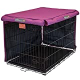 Pet Progressions by K&H 42 Inch Dog Crate Cover, Navy - Tear Resistant Dog Kennel Covers