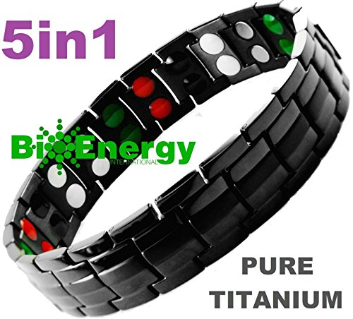 Magnetic Energy Germanium Armband Power Bracelet Health Bio 5in1 Bio 9246