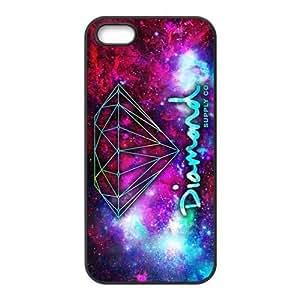 CTSLR Diamond Supply Co Design Hard Case Cover Skin for Apple iPhone 5/5s- 1 Pack - Black/White - 3