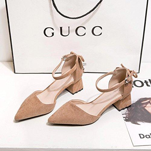 zapatos primavera áspera zapatos y superficial y sandalias rugosa de áspera mujeres y señaló Thirty nine Zapatos solo Donyyyy de wIgxfYg0
