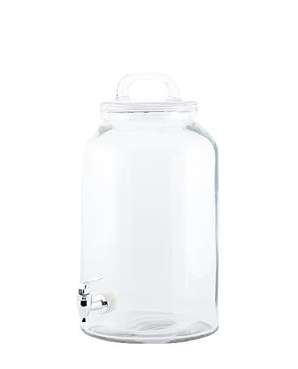 Dispensador de bebidas de cristal con grifo 8,5 l