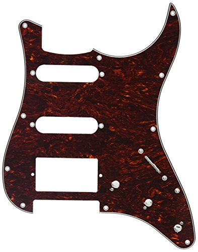 (Kmise A0233 1 Piece Tortoise Guitar Pickguard Shell for Fender Strat ST Replacement Red)