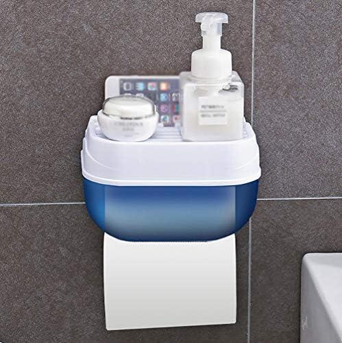 壁掛けトイレットペーパーディスペンサー、家庭用バスルーム用ポータブルトイレットペーパーホルダー、防水ティッシュボックスバスルームキッチンアクセサリー