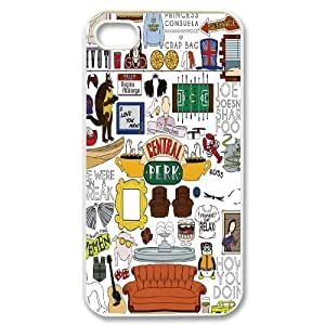 Hjqi - DIY Friends Cover Case, Friends Customized Case for iPhone 4,4G,4S