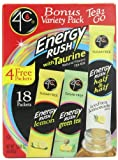4C Totally Light 2 Go Energy Rush Bonus Variety Pack, 3.4-Ounce (Pack of 3)