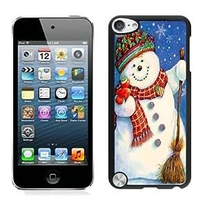 Customization Christmas snowman Black iPod Touch 5 Case 12