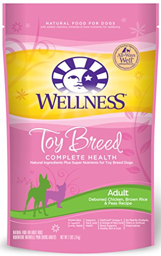 Wellness Complete Health Natural Dry Toy Breed Dog Food, Chicken & Rice, 2-Pound Bag