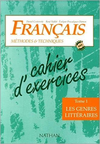 Livres Français, méthodes et techniques, classes des lycées, cahier niveau 1 pdf, epub ebook