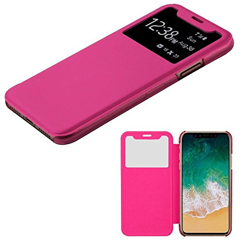 Price comparison product image iPhone X Case, Mybat Plastic Hard Snap-in Case Cover For Apple iPhone X, Hot Pink