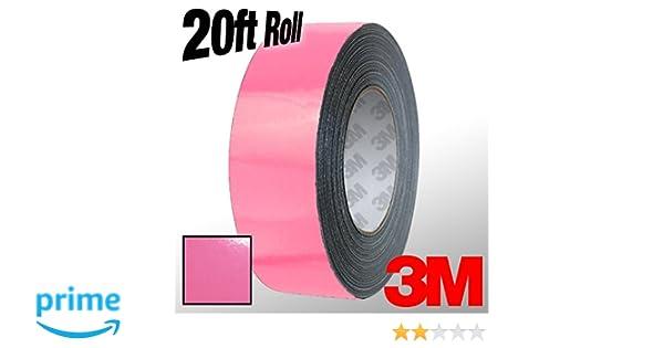 VViViD 3M 1080 Pink Gloss Vinyl Detailing Wrap Pinstriping Tape 20ft Roll 4 x 20ft