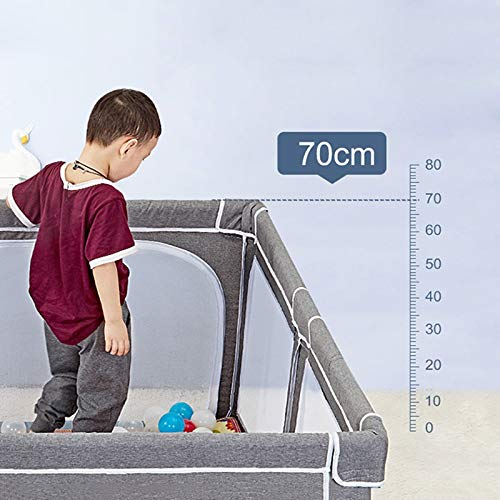 Infant Toddler Fence Household Shatter-Resistant Toys House Baby Game Playpen Children's Safety Fence Crawling Bar with Mat, Height 70cm, Size Optional (Size : 150×190cm) by Child safety gate (Image #3)