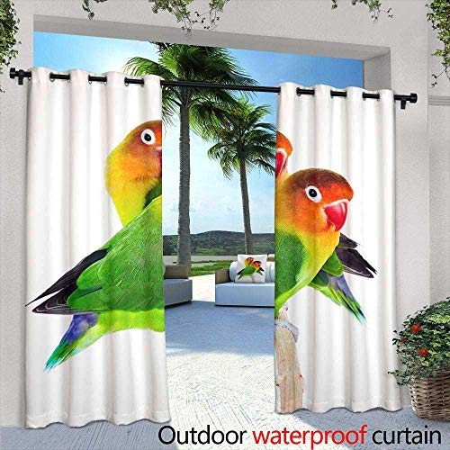 (Lightly Outdoor Balcony Privacy Curtain,Seamless Hawaiian Pattern Wallpaper,W96 x L108 for Front Porch Covered Patio Gazebo Dock Beach Home)