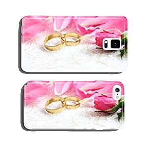 pair of wedding rings with roses for background image cell phone cover case iPhone6 Plus