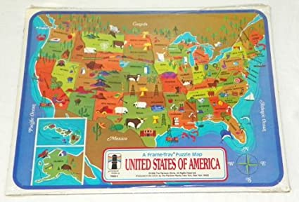 UNITED STATES OF AMERICA - Frame Tray Puzzle Map - 1968