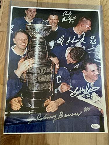 Toronto Maple Leafs multi autographs Photo with JSA ()