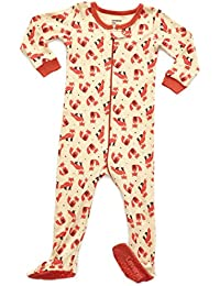 Baby Girls Footed Sleeper Pajama 100% Cotton (Size 6 Months-5 Toddler)