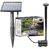Linxor France ® Pompe à eau solaire pour fontaine, bassin ou jardin... avec câble de 5m - Norme CE