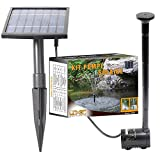 Linxor Solar Water Pump for Fountains, basins or Gardens… with a 5m Cable- Standard CE