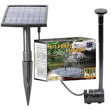 Linxor France ® Pompe à eau solaire pour fontaine, bassin ou jardin ...