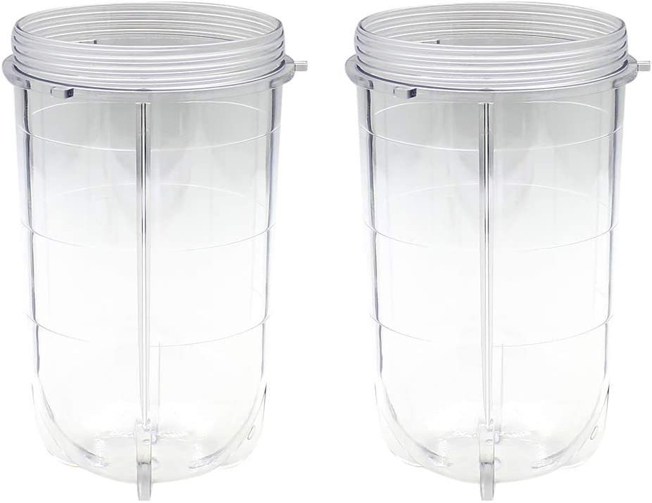 Joyparts Replacement Parts Cups Accessory Compatible with Original Magic Bullet 250W MB1001 Blender (2 16oz cups)
