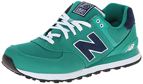 888546365933 - New Balance Men's ML574 Pique Polo Pack Classic Running Shoe, Green, 7 D US carousel main 0