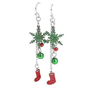 Schmuck Weihnachten.Hosaire 1 Paar Damen Weihnachten Glocken Anhänger Ohrringe Frauen Schmuck Zubehör Ohrhänger