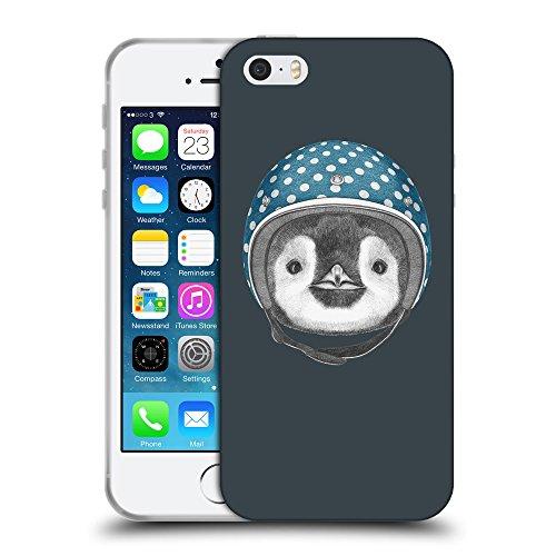 GoGoMobile Coque de Protection TPU Silicone Case pour // Q05320606 Casque pingouin Arsenic // Apple iPhone 5 5S 5G SE