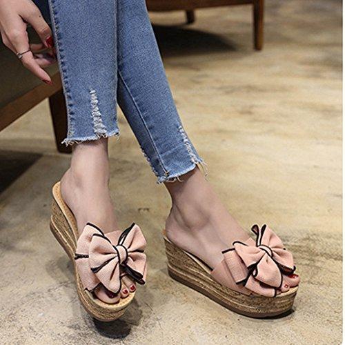 Fleurs Slide de Forme d'été de Dames Coin Chaussures Femmes Plein air Mode Sandales Plate en xwzERAUqA