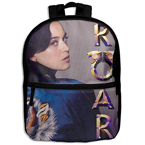 Fashion School Backpack Roar Song The Katy Perry Outdoor Casual Shoulders Multipurpose Backpack Travel Bags for Children,Kids Black]()