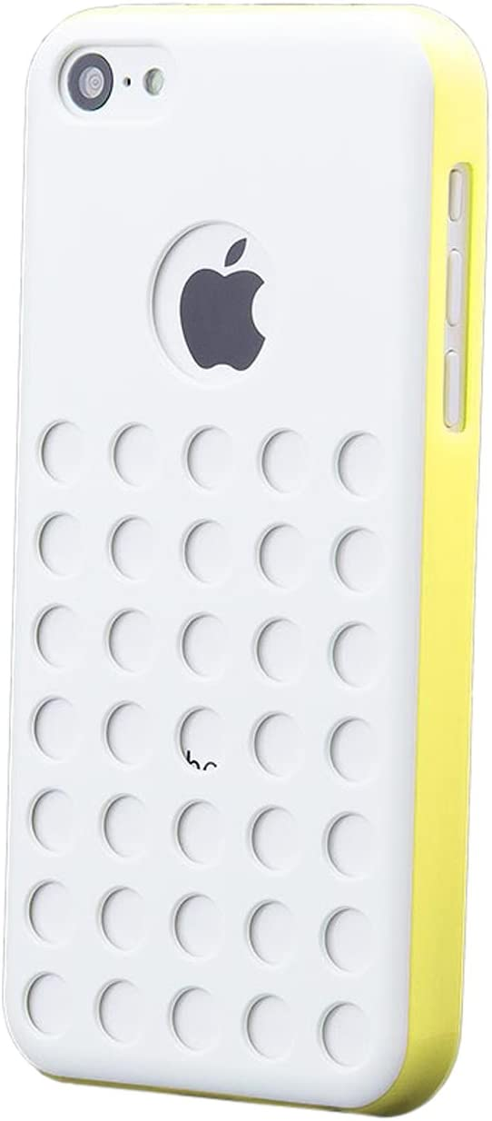 Apple iPhone 5C | iCues Design Case Yellow |[Screen Protector Included] Cover Shell Shookproof