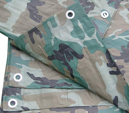 Camouflage/Green Tarp, 6x8