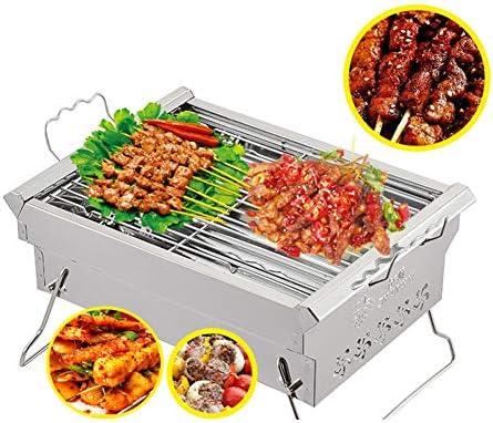 Ljings Surface Antiadhésive Multifonctionnelle Ménage De Grande Capacité, Barbecue en Plein Air Portatif De Barbecue Charbon Bois d'acier Inoxydable De BBQ