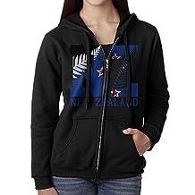 New Zealand Flag 2016 NZ Fern Leaf Women Full Zip Pocket Sweatshirt Hoodie
